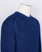 Drumohr Heavy Crew Neck Merino Wool Knit / Blue