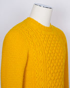 Drumohr Crew Neck Cable Knit / Yellow
