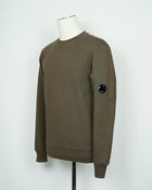 C.P. Company Diagonal Raised Fleece Lens Crew Sweat / Ivy Green