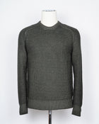 Beautifully heavy and robust merino wool knit.  100% Merino wool Art. D5M103PA Col.    / Green