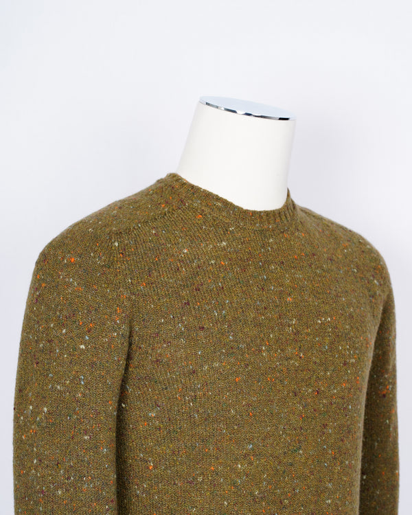 Drumohr wool & cashmere  in a elegant melange color. Soft, light and warm.  68% wo, 29% ws, 3% pa Art. D5SH103N Col. 470 Green Melangé