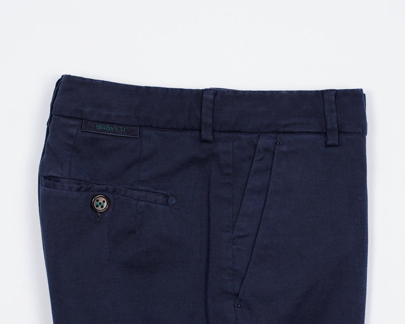 Berwich Morello Garment Dyed Chinos- Navy