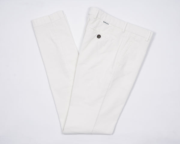Berwich Morello Garment Dyed Corduroy Chinos - Off-White