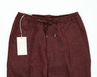 Briglia 1949 Active Linen Drawstring Trousers / Burgundy