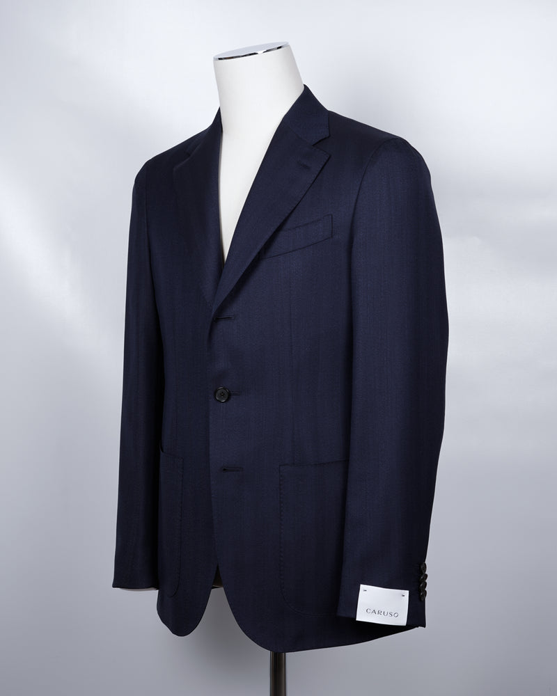 CARUSO Blazer Model Tosca 5013640120 BF2CM304A 152656 100% wool Art. CM3042A1RR 2 Patch Pockets Side vents Half Lined Regular Fit