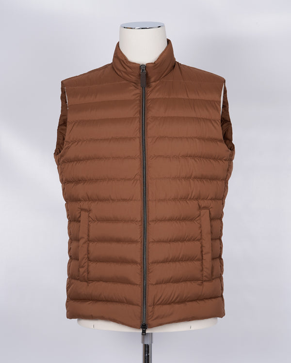 Herno Light Down Vest / Rusty Brown