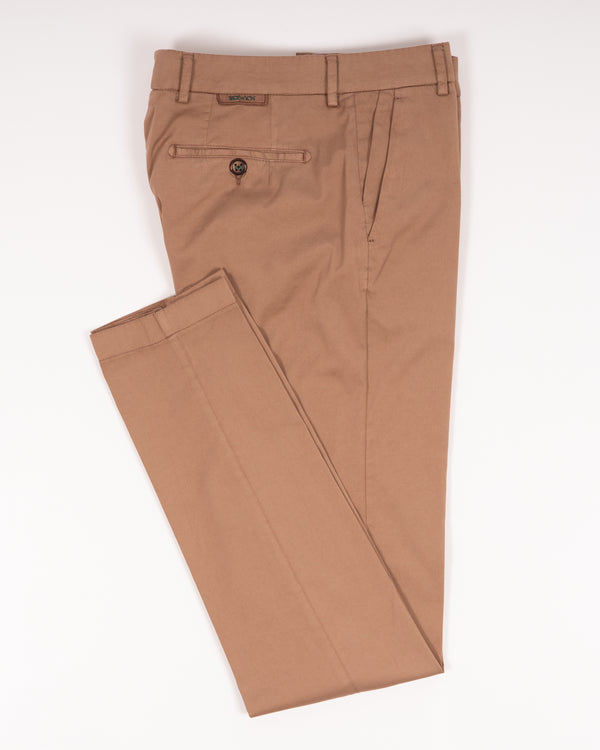 Berwich Morello Garment Dyed Chinos With Silk / Noce