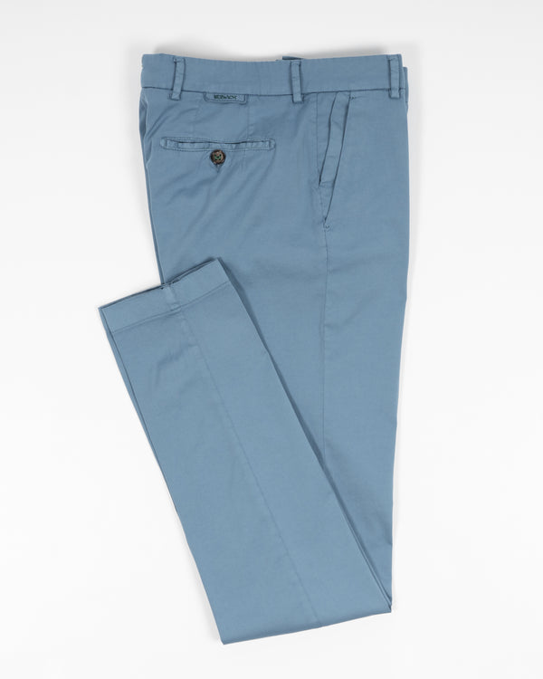 Berwich Morello Garment Dyed Chinos With Silk / Cartazucchero