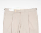 De Petrillo Wool Trousers / Chalk White