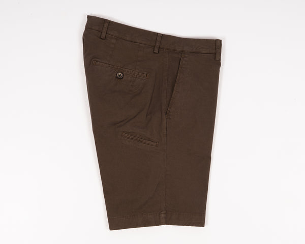 Berwich Bermuda Cotton Shorts - Terra