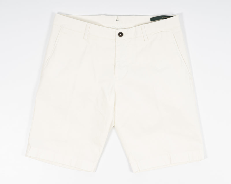Berwich Bermuda Cotton Shorts - Panna