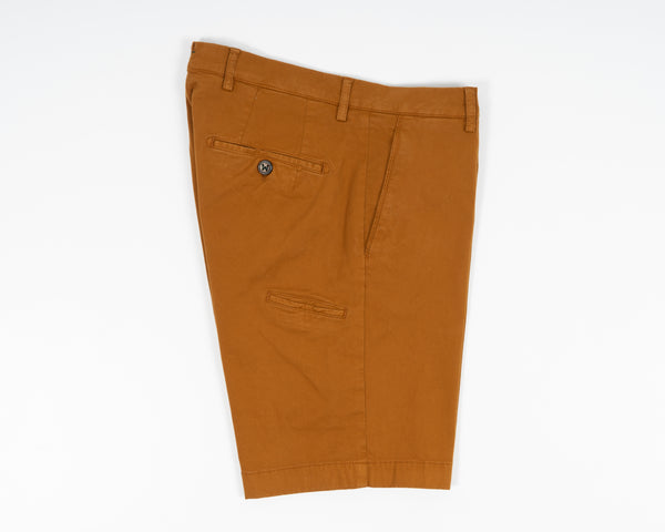 Berwich Bermuda Cotton Shorts - Bronzo
