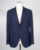 Caruso Blue Wool/Silk/Linen Jacket