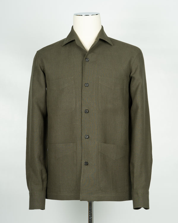 Gaiola Napoli long sleeved Overshirt / Green