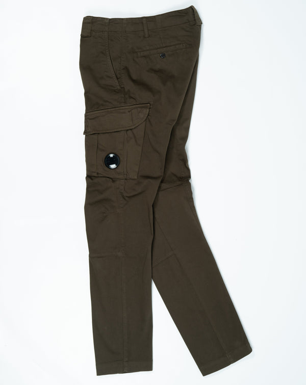 C.P. Company Stretch Sateen Garment Dyed Cargo Pants Armygreen