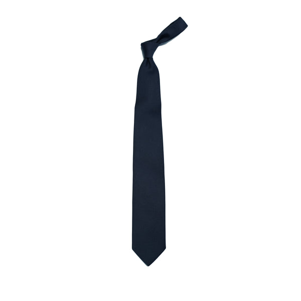 E. Marinella Navy blue Silk tie
