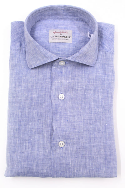 Linen Hair Stripe Shirt - Blue & Blue