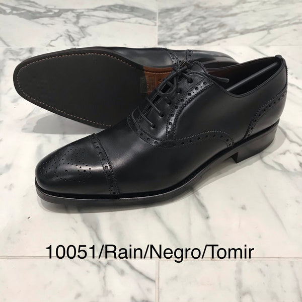 CARMINA / 10051 / RAIN / BLACK / CAPTOE SEMI BROGUE