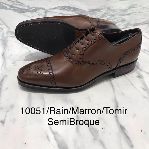 CARMINA / 10051 / RAIN / MARRON / CAPTOE SEMI BROGUE