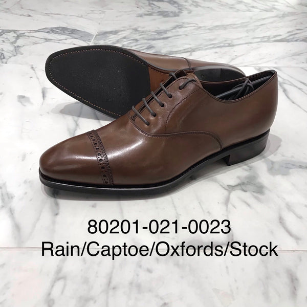 CARMINA / 80201 / RAIN / MARRONE / CAPTOE SEMI BROGUE