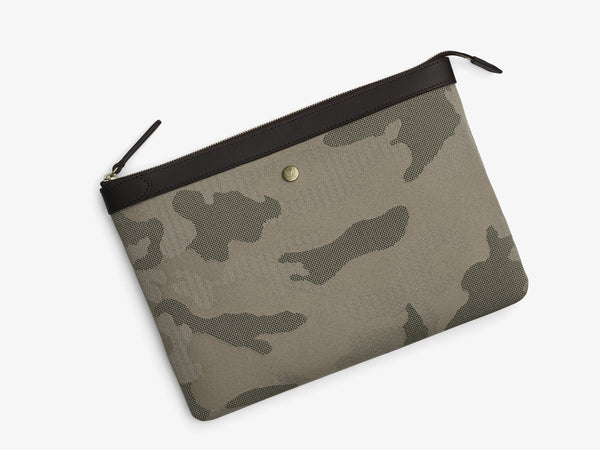 M/S POUCH LARGE - SAGE CAMO / DARK BROWN