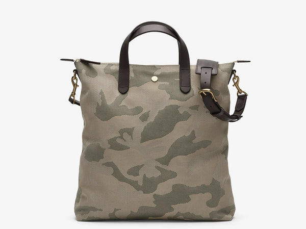 M/S SHOPPER - SAGE CAMO / DARK  BROWN