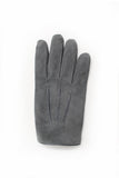 Amanda Christensen Grey Suede Gloves Back