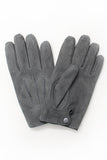 Amanda Christensen Grey Suede Gloves Pair