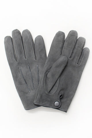 Suede Gloves - Gray