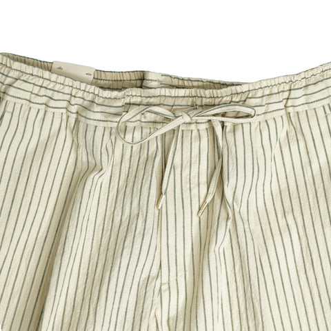 Briglia 1949 Striped Seersucker Trouser / Light Beige and Green