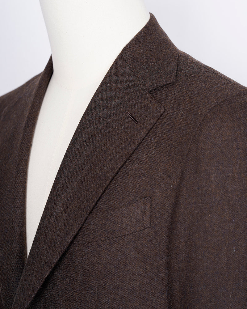 Caruso Brown Wool & Cashmere Jacket / Brown
