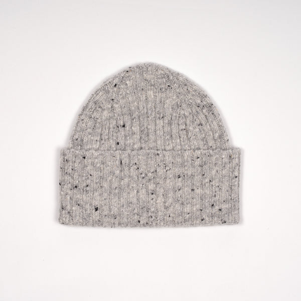 Drake´s Donegal Ribbed Merino Watch Cap / Light Grey