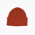 Drake´s Ribbed Lambswool Watch Cap / Rust