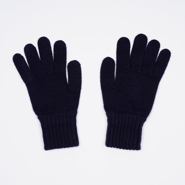 Drake´s Donegal Merino Knitted Gloves. A good pair of knitted gloves offering protection from the cold in the winter months.  Made in Scotland 100% Merino One Size Drake´s Lambswool Knitted Gloves / Navy