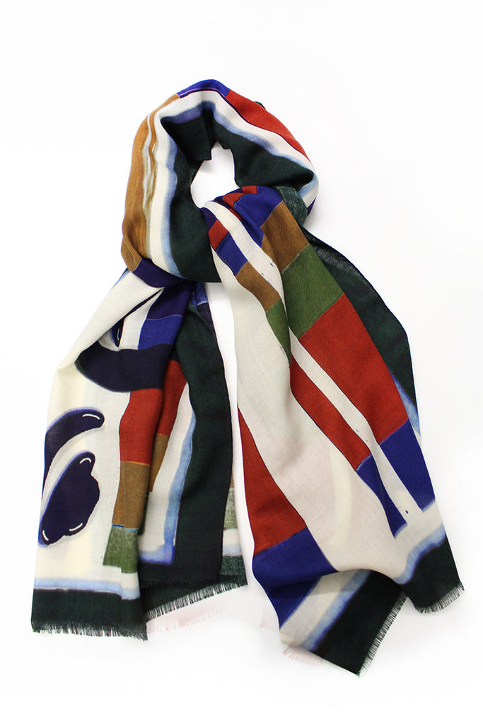 Abstract Painted Scarf No. 2