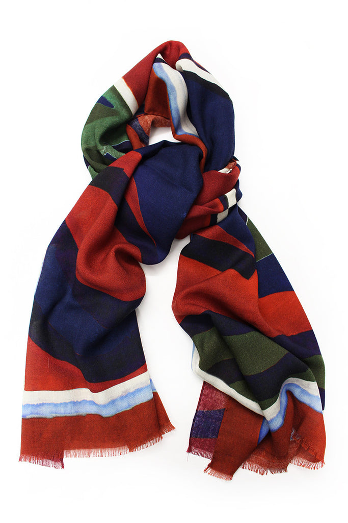 Eredi Chiarini Abstract Painted Scarf 1