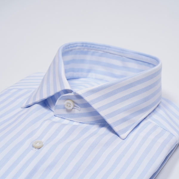 Ghirardelli 1911 Candy Stripe Shirt / Light Blue