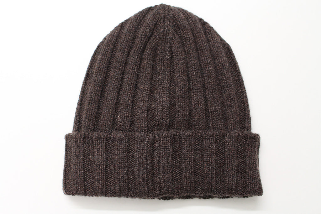 Pure Cashmere Beanie - Brown