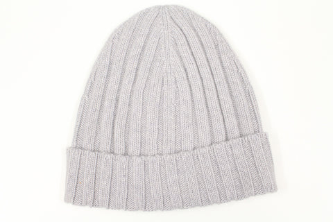 Pure Cashmere Beanie - Light Grey