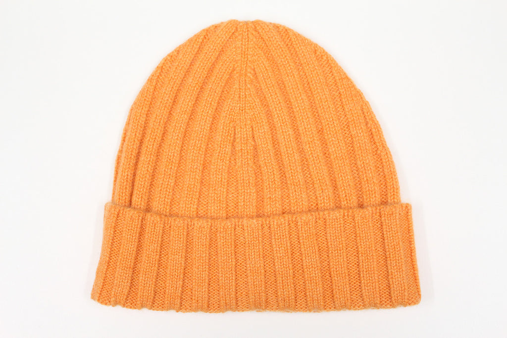 Pure Cashmere Beanie - Orange
