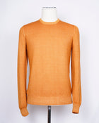 Gran Sasso Vintage Merino Crew Neck Knitwear / Orange