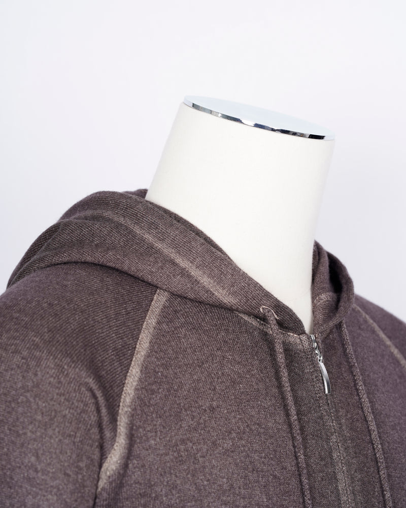 Gran Sasso Wool & Cashmere Hoodie / Brown