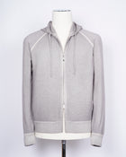 Gran Sasso Wool & Cashmere Hoodie / Light Grey