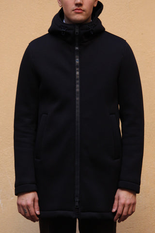 Neoprene Coat - Dark Navy
