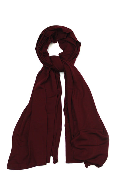 John Smedley Wings Scarf in Gardner Red Bordeaux