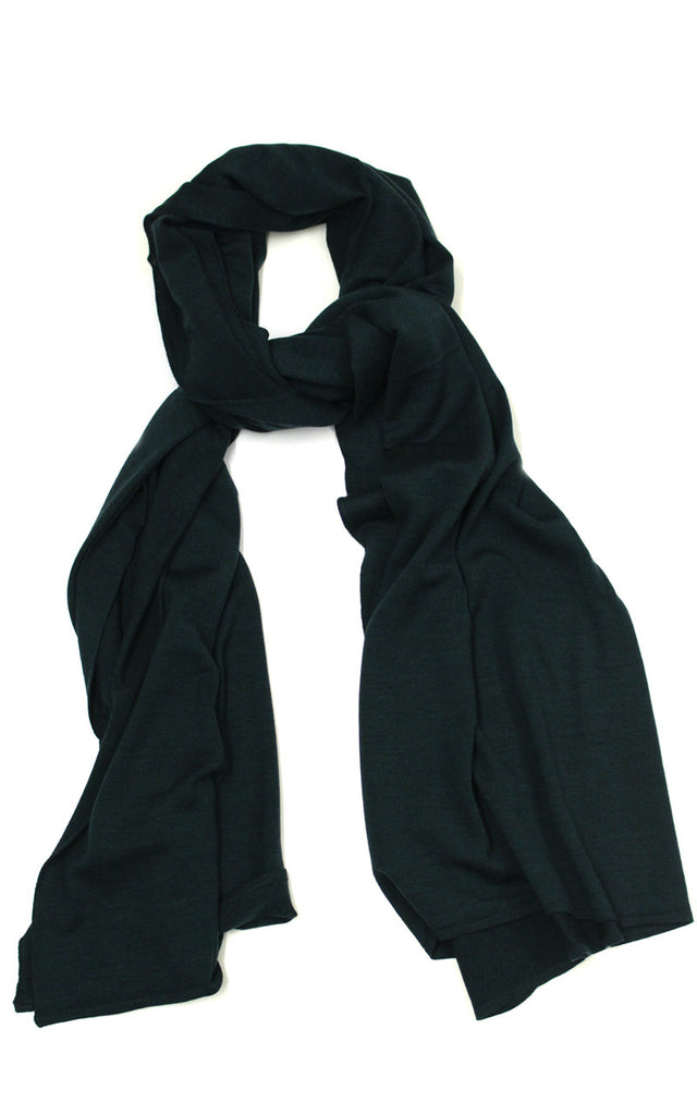 John Smedley Wings Scarf in Racing Green