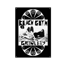 Load image into Gallery viewer, Classic Beach Goth Wall Flag - The Growlers