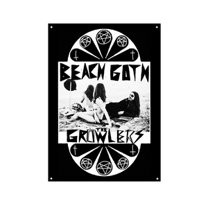 Classic Beach Goth Wall Flag - The Growlers