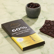 Sugar free keto 60% dark chocolate single origin
