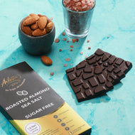 roasted almond seasalt vegan keto sugar free chocolate bar